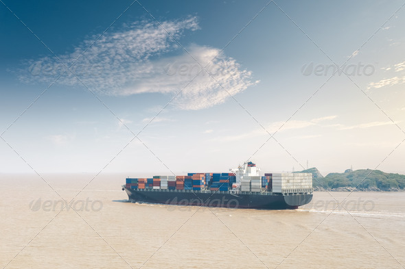 container cargo ship - Stock Photo - Images