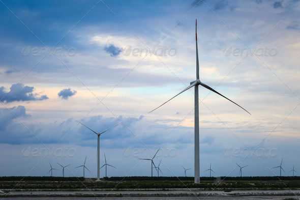 wind turbine farm - Stock Photo - Images