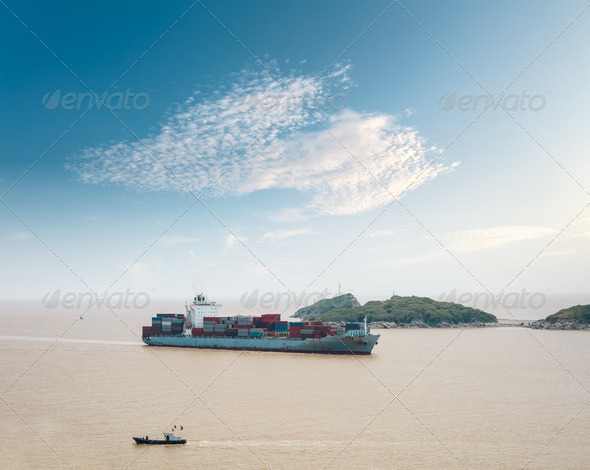 container cargo vessel - Stock Photo - Images