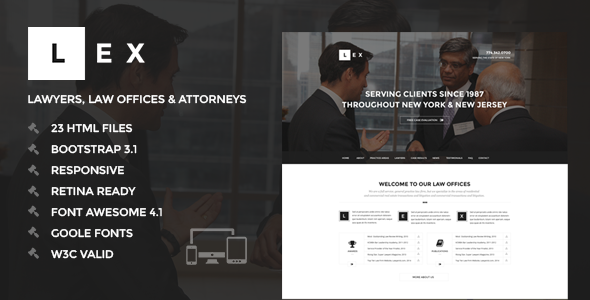 LEX – Lawyers, Law Offices & Attorneys HTML