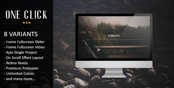 One Click – Parallax One Page HTML Template