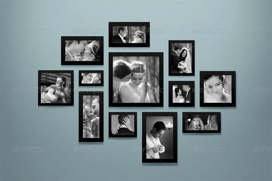 Wall Of Frames Mockup - Wall Designs