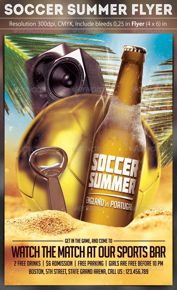 Soccer Summer Flyer Template