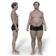 Weight Loss/Gain - Asian Male - VideoHive Item for Sale
