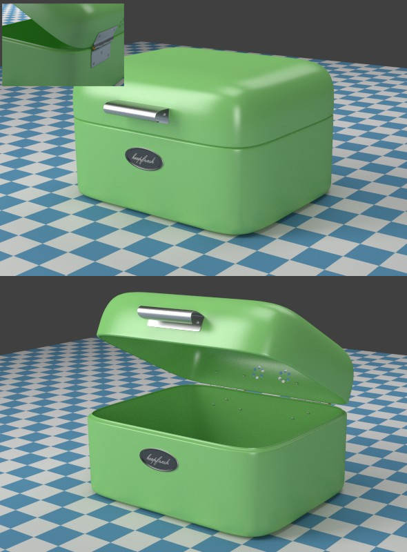 A small green Breadbox - 3DOcean Item for Sale
