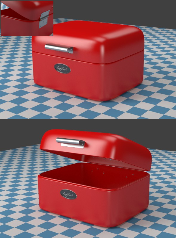A small red Breadbox - 3DOcean Item for Sale