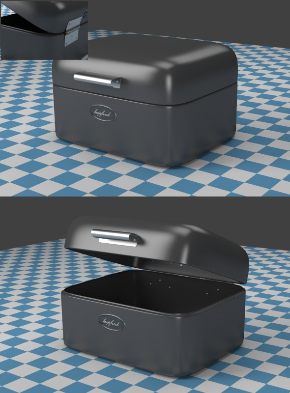 A small gray Breadbox - 3DOcean Item for Sale