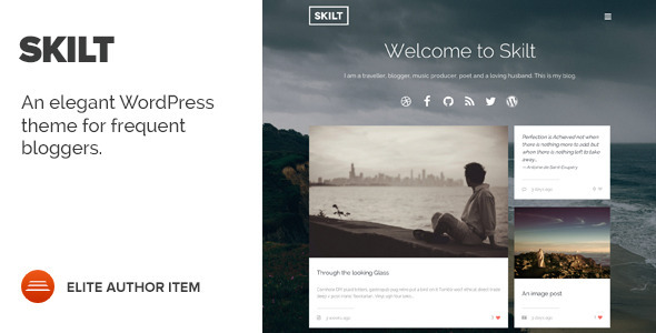 Skilt – A WordPress theme for Frequent Bloggers