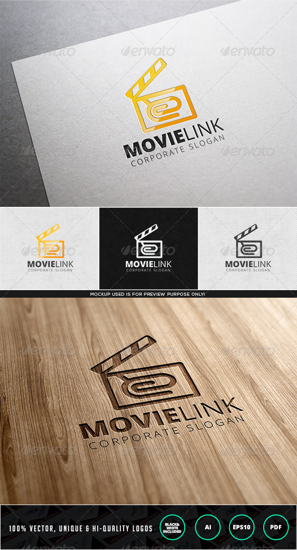 Movie Link Logo Template - Objects Logo Templates