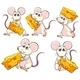 Group of Mice Carrying Slices of Cheese - GraphicRiver Item for Sale