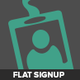 Modern Flat Signup Forms - GraphicRiver Item for Sale