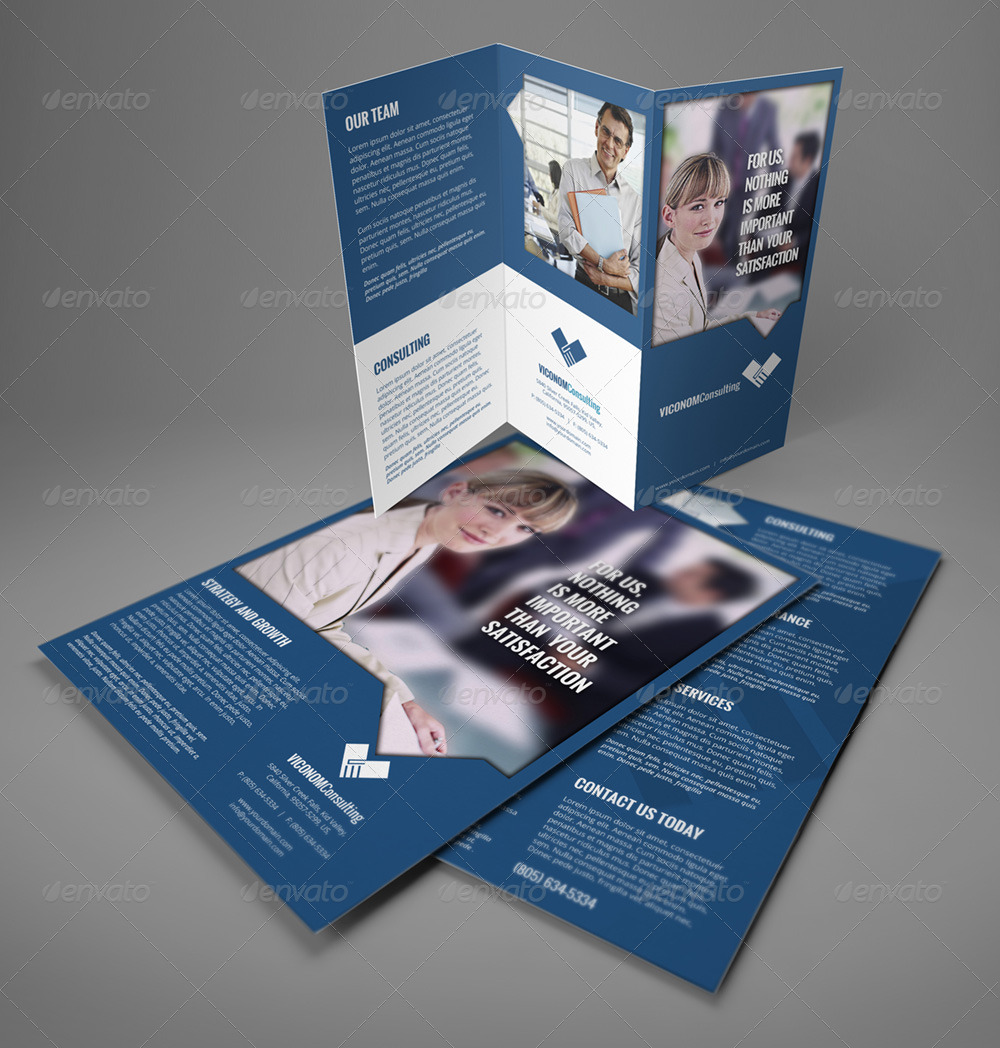 A Trifold Double Side Flyer Template By Illusiongraphic - A4 tri fold brochure template