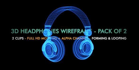 DJ Headphones 3D Wire Form Spin