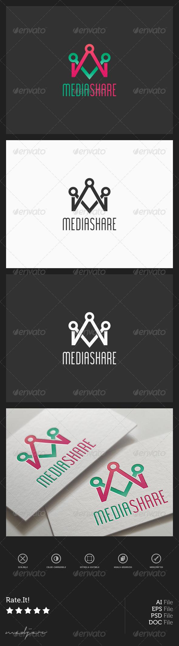 Media Share Logo - Symbols Logo Templates