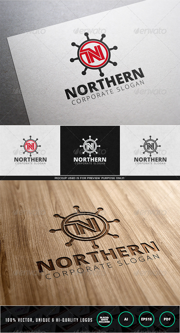 Northern Logo Template - Letters Logo Templates