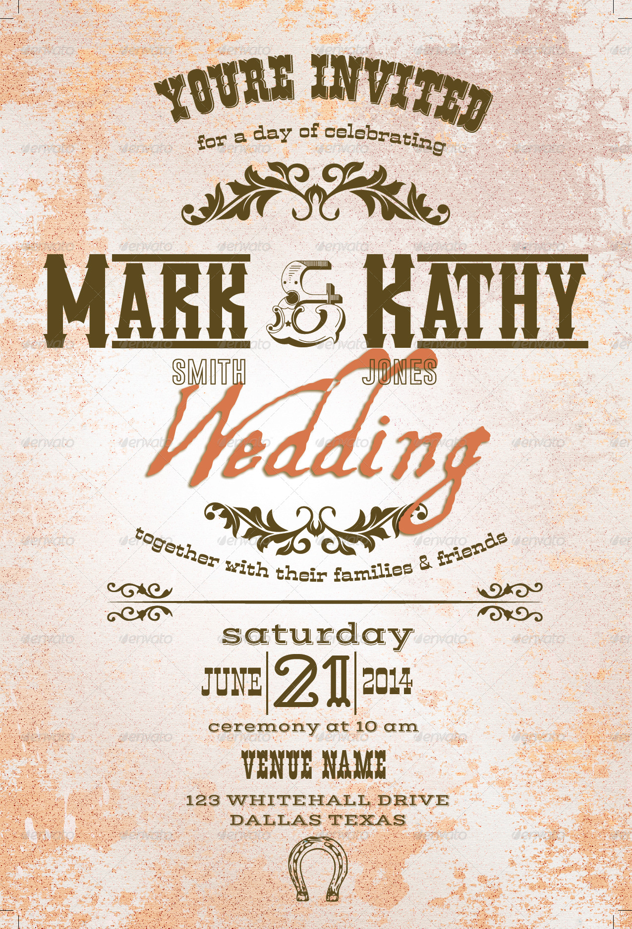 Western Wedding Style Set by arcford | GraphicRiver