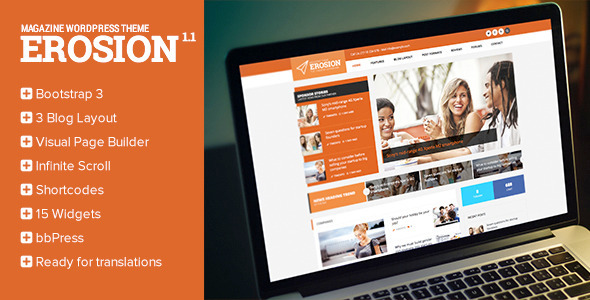 Erosion – Responsive Blog WordPress Theme