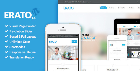 Erato - Multipurpose WordPress Theme