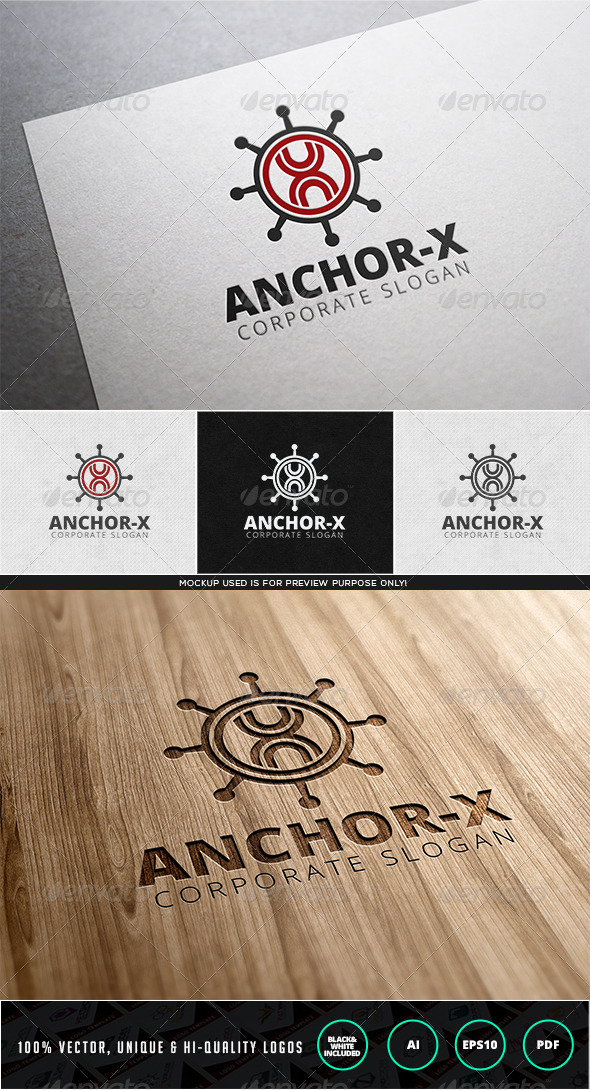 Anchor X Logo Template - Letters Logo Templates