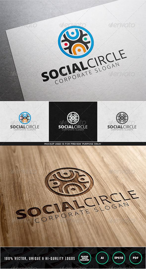 Social Circle Logo template - Humans Logo Templates
