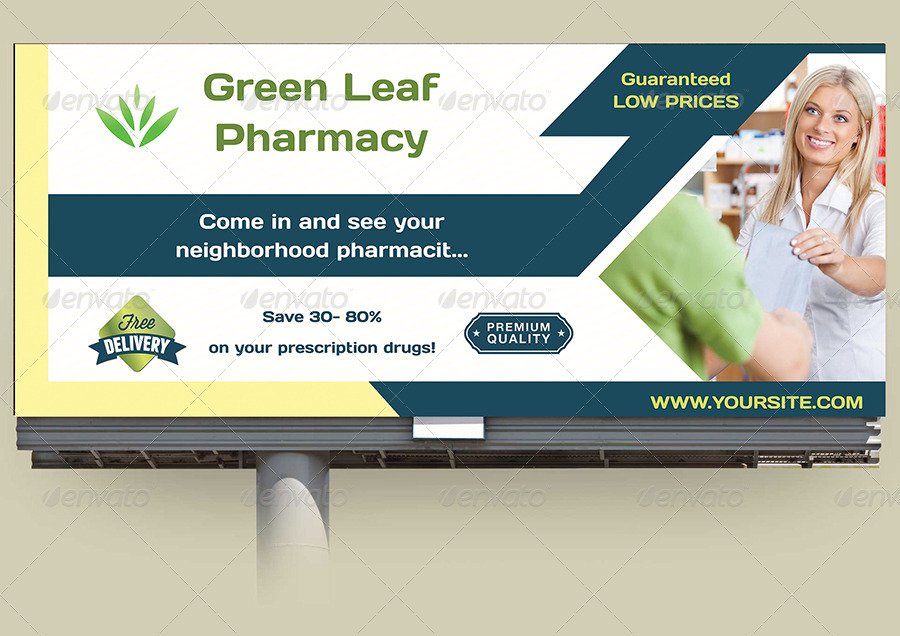 Pharmacy Billboard Template by OWPictures | GraphicRiver