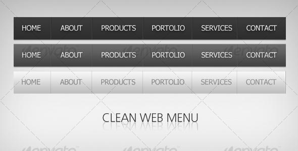 Modern black menu - Navigation Bars Web Elements