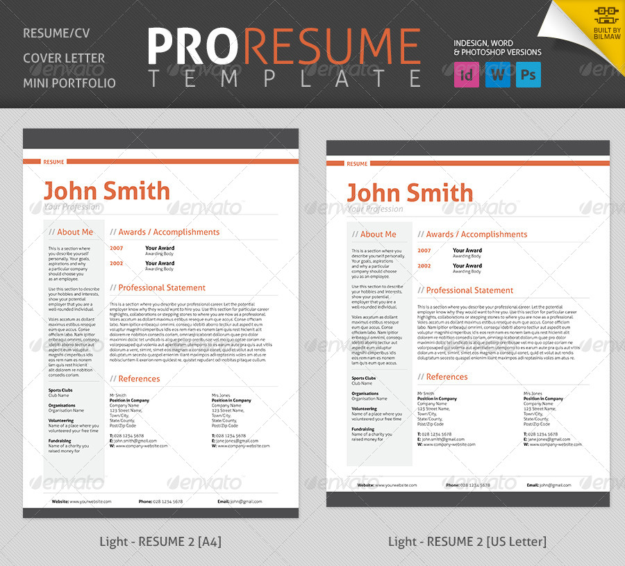 preview of a resumes