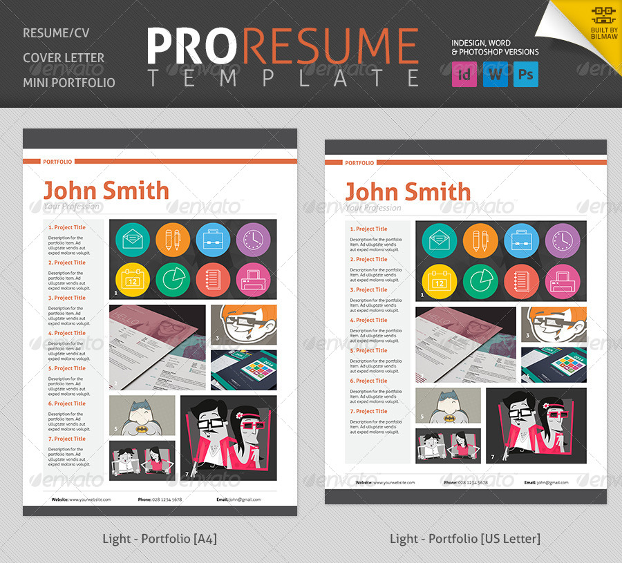professional resume cv by bilmaw graphicriver