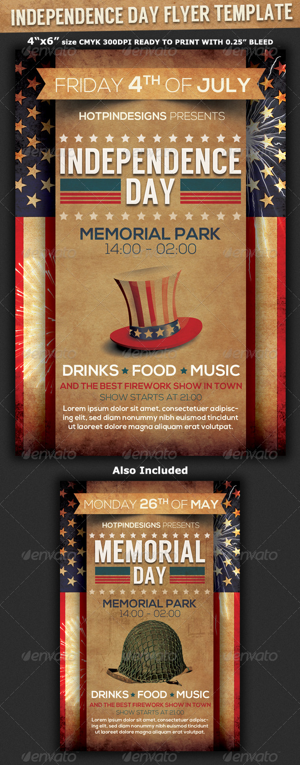 4th of July/Independence Day Flyer - Events Flyers