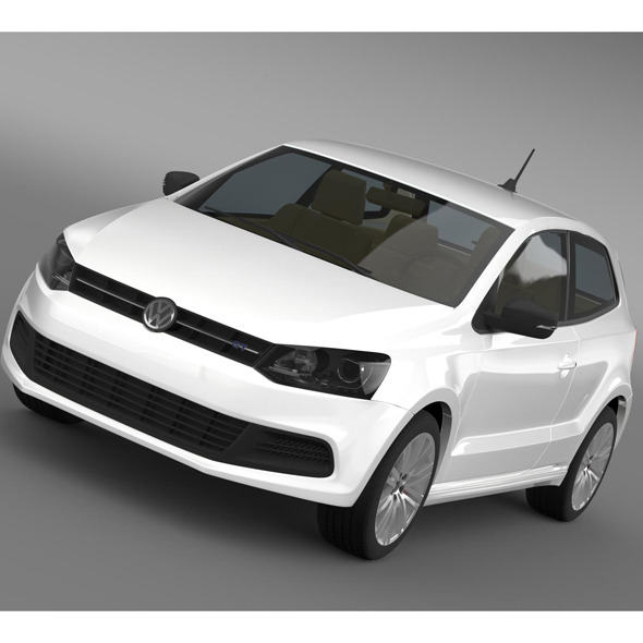 Volkswagen Polo BlueGT 3d 2009-2013 - 3DOcean Item for Sale