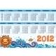 Decorative calendar for 2012 - GraphicRiver Item for Sale