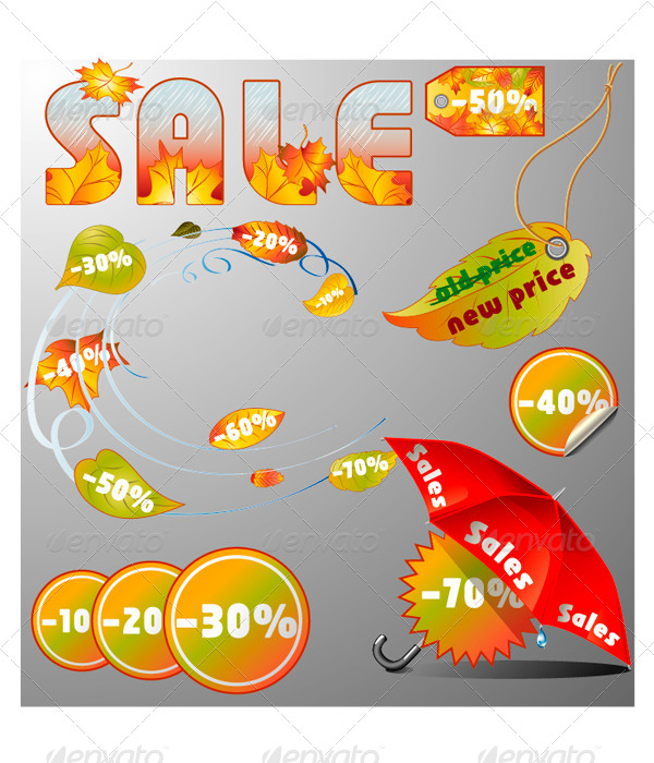 Sesonal Sales Design Elements.