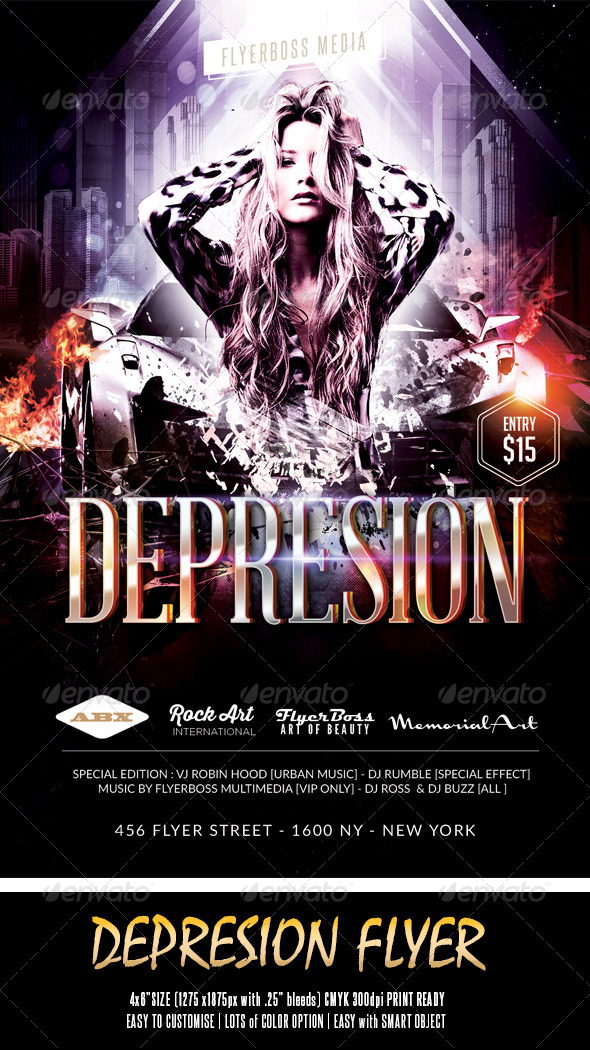 Depresion Flyer - Events Flyers