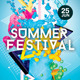 Futuristic Abstract Pop Summer Flyer Templates - GraphicRiver Item for Sale