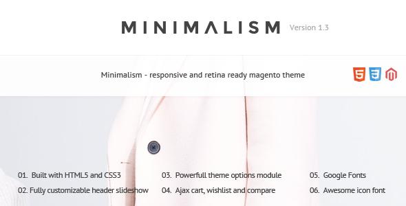 Minimalism – Responsive Magento Theme