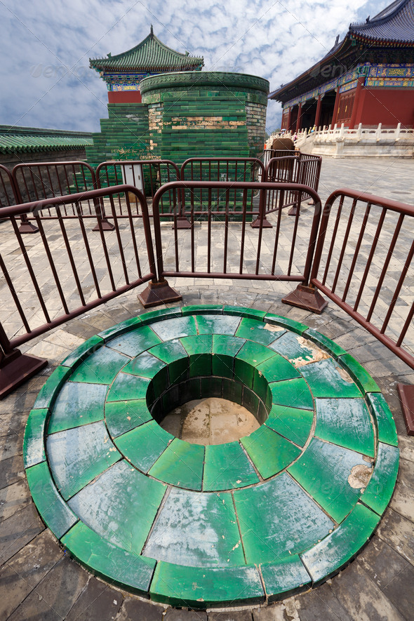 temple of heaven,copper burners - Stock Photo - Images