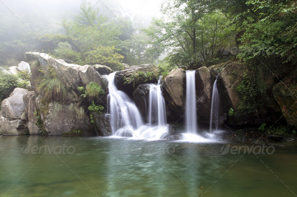 black dragon pool in lushan scenic - Stock Photo - Images