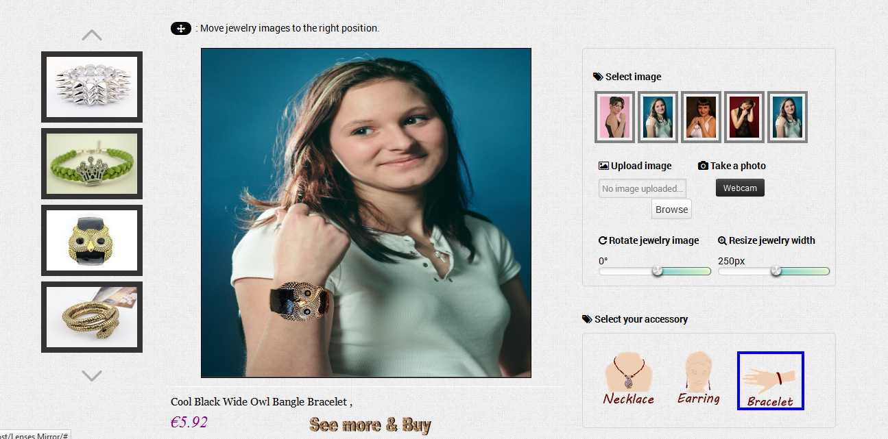 virtual jewelry try on solution by gordonweb codecanyon