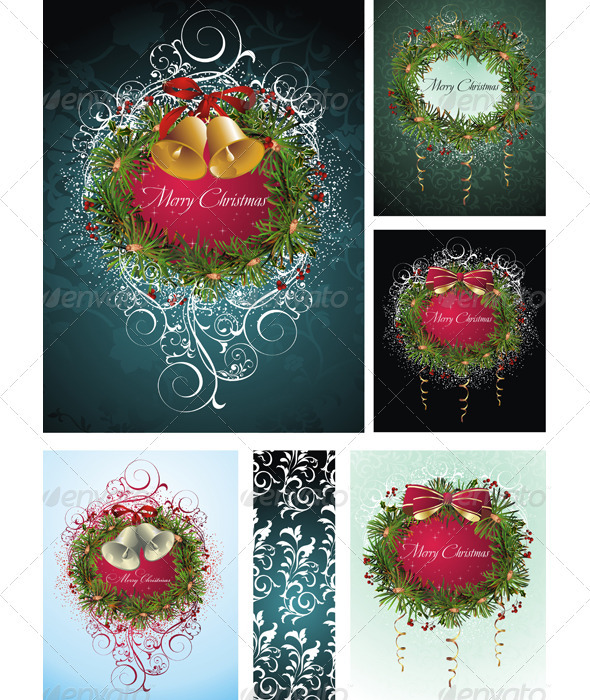 Christmas Wreath Background - Christmas Seasons/Holidays