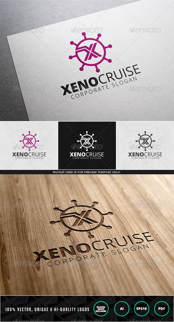 Xeno Cruise Logo Template - Letters Logo Templates