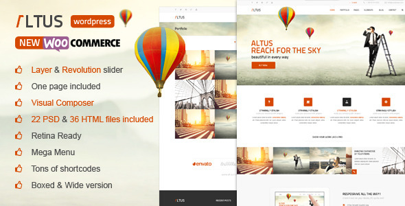 Altus - Multi-Purpose WordPress Theme - Corporate WordPress