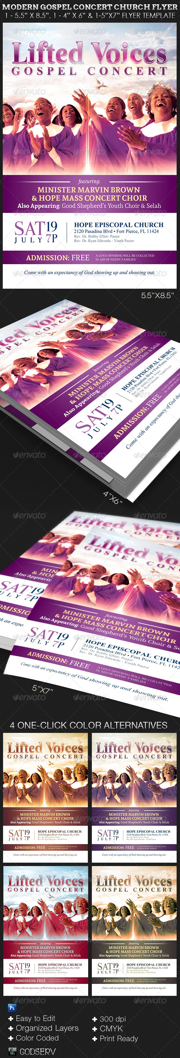Choir Flyer Graphics Designs Templates From Graphicriver