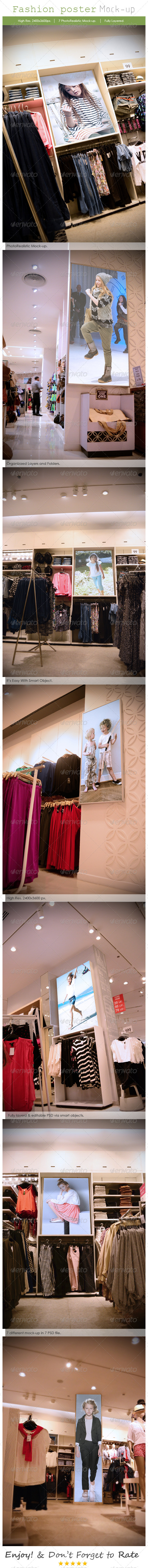 Fashion Poster Mockup - Print Product Mock-Ups