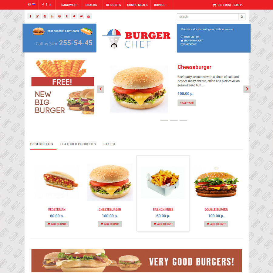 Chef Delivery - OpenCart Universal Template by conceptlogic ...