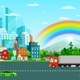 Urban Cityscape Road _Vehicles Moving - VideoHive Item for Sale