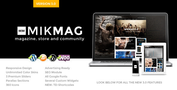 MikMag – Responsive, Buddypress and Woocommerce