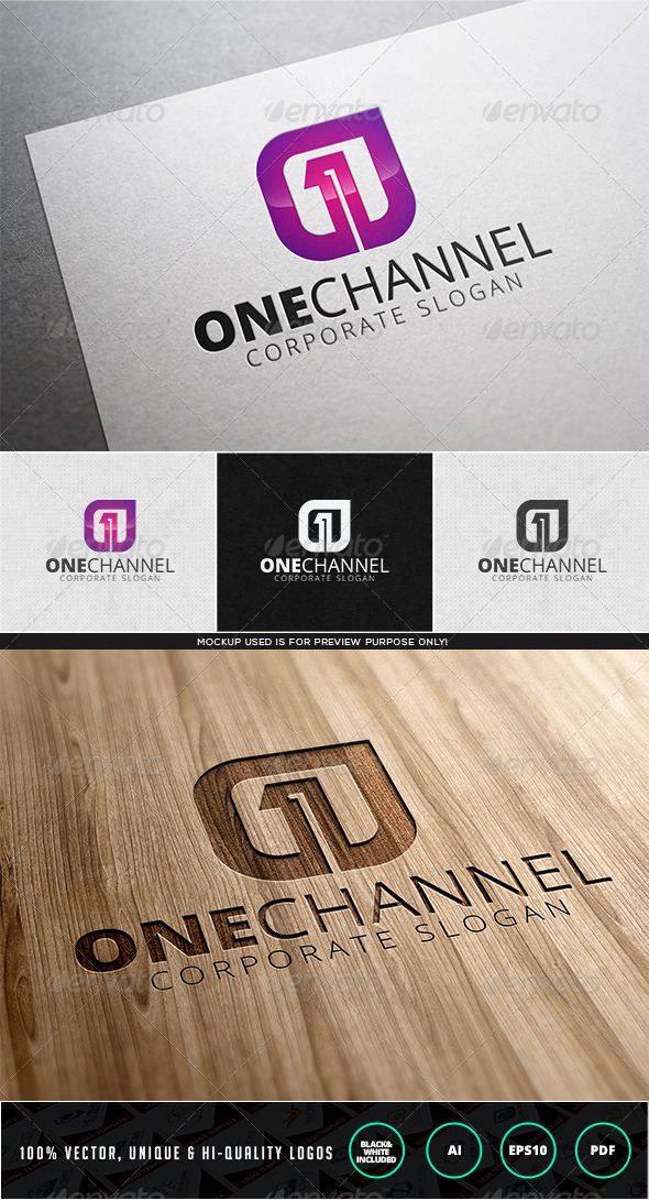 One Channel Logo Template - Numbers Logo Templates