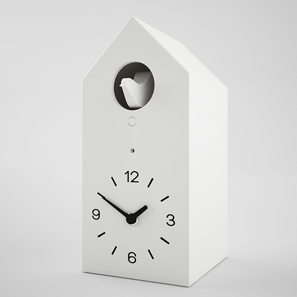 muji cucu clock 3d model - 3DOcean Item for Sale