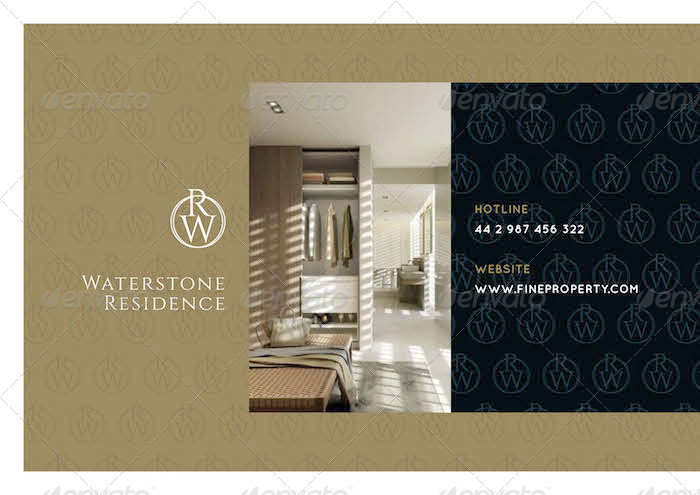 Luxury Brochure For Property Hotel Interior By Marnica