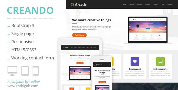 Creando – Creative Onepage Parallax HTML Template